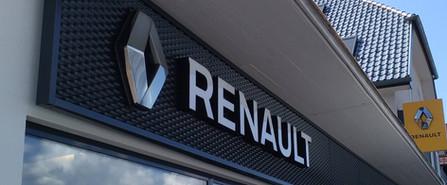 Fassadenwerbung für Renault