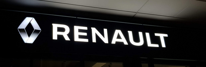 Leuchtschild für Renault