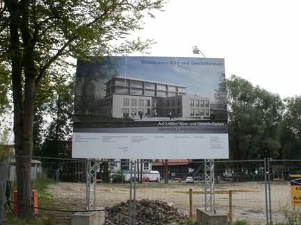 Baustellenschild entwickelt von Art 4 Sign
