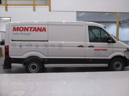 Firmenwagen Beschriftung für Montana