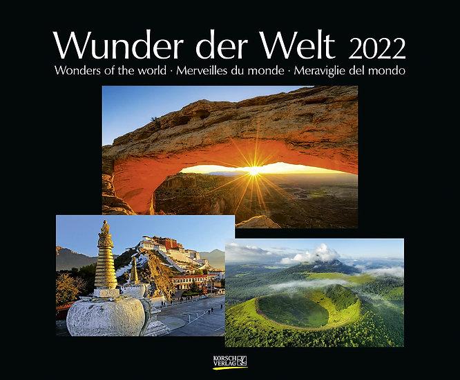 Wunder der Welt 2022: Großer Wandkalender