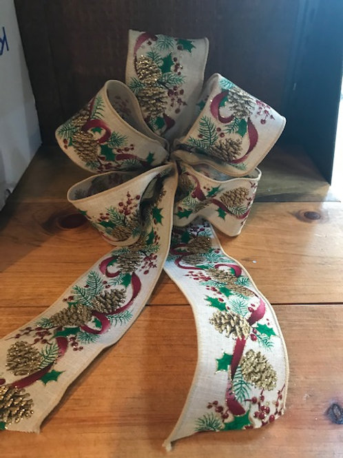 Christmas Pattern Bow