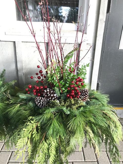 """Traditional 14"""" Christmas Planter"""