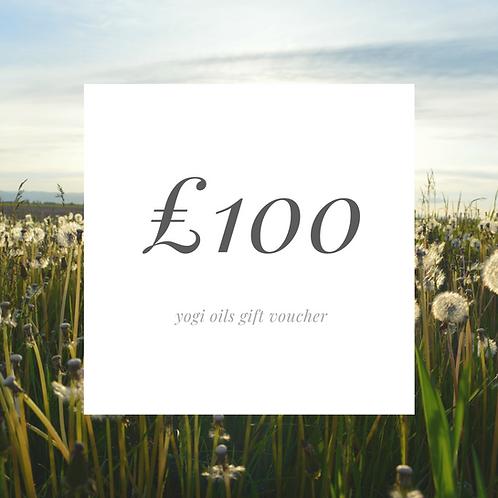 £100 yogi oil gift voucher