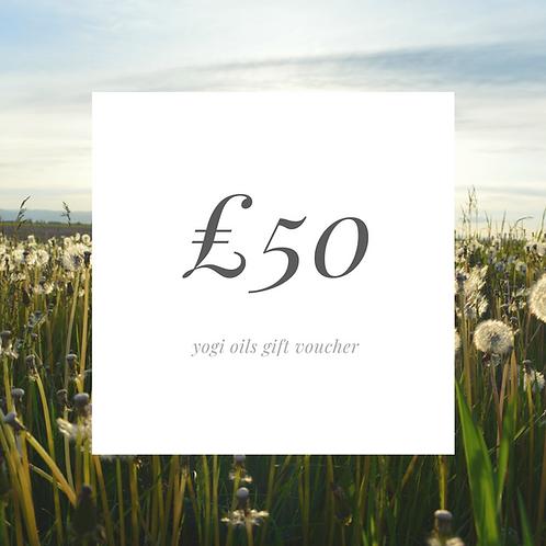 £50 yogi oil voucher