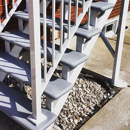 escalier limon aluminium