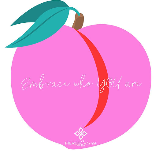 "Embrace Who YOU Are ""Peach Sticker"""