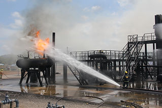 Oil field explosion accident