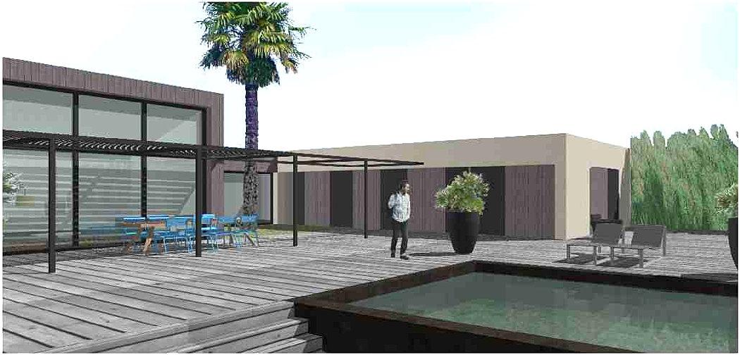 Philippe gonnet architecte avignon for Maison contemporaine 200m2