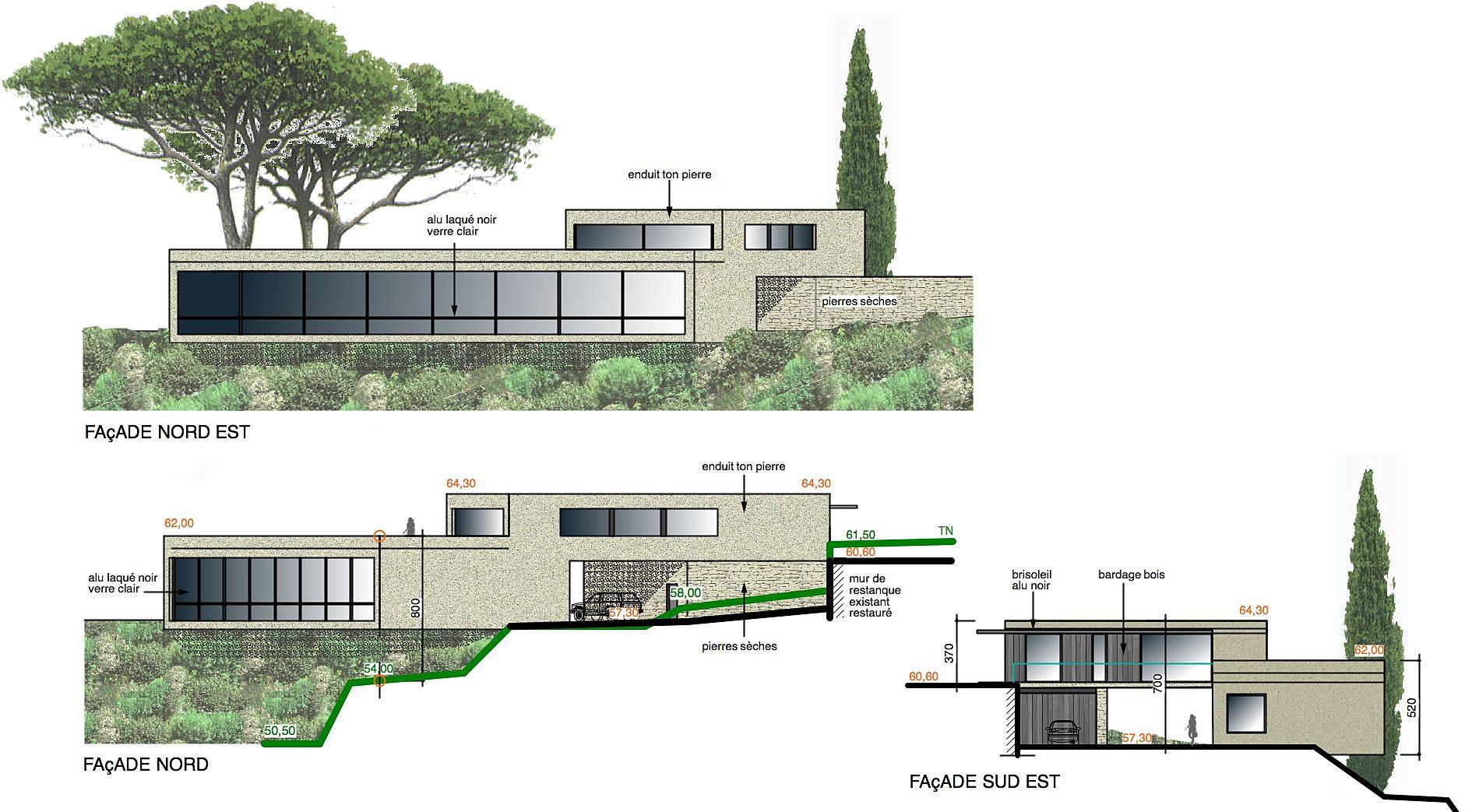Philippe gonnet architecte avignon maison contemporaine for Projet maison contemporaine