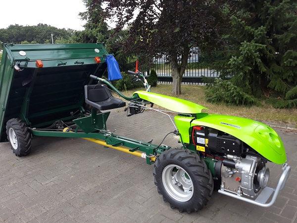 TPS Special Green 12 PS Einachser mit Anhänger 1t. Allrad Straßenzulassung