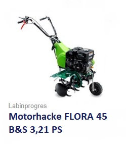 Motorhacke FLORA 45  B&S Motor 3,21 PS