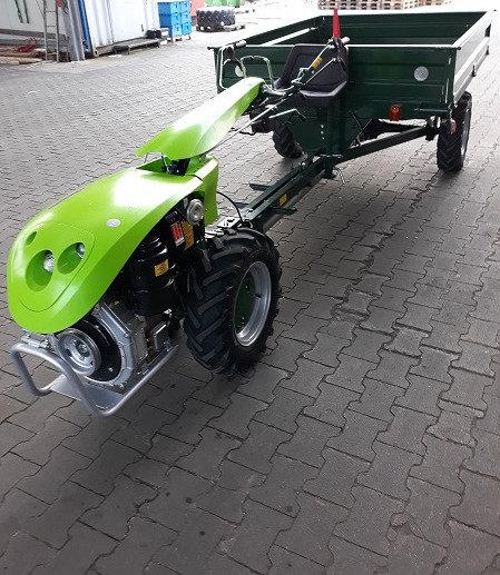 TPS Special Green 10 PS Einachser mit Anhänger 1t. Allrad Straßenzulas