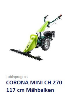Balkenmäher Wiesenmäher TPS COROna MINI 117 cm