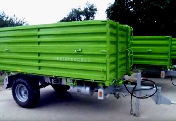 TPS PV 4000 Anhänger Dreiseitenkipper Druckluftbremse Aufsatzbordwände