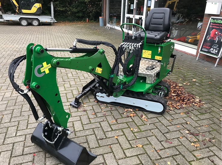 Minibagger Microbagger 6,5 PS 800 KG 360° vollhydr. Raupenketten
