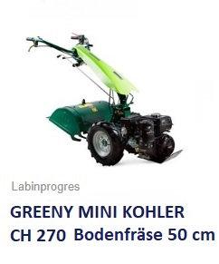 Einachser Greeny MINI Kohler- Motor Bodenfräse