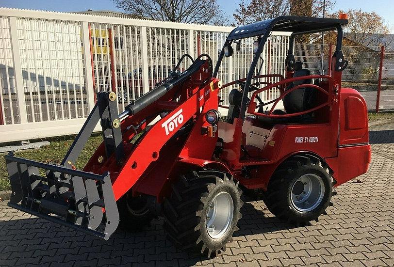 TOYO Agro 836 Schutzdach Hoflader Radlader mit Kubota Motor mit Werkzeug