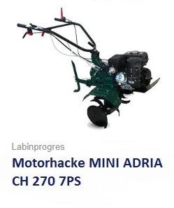 Motorhacke MINI ADRIA KOHLER 7PS 75 cm Arbeitsbreite