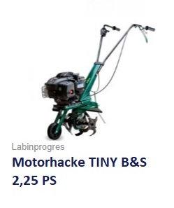 Motorhacke TINY B&S Motor 2,25 PS
