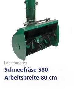 Schneefräse S80  Arbeitsbreite 80 cm