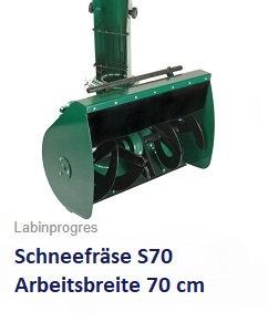 Schneefräse S70  Arbeitsbreite 70 cm