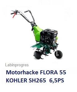 Motorhacke FLORA 55 Kohler 6,5 PS 50 cm Arbeitsbreite