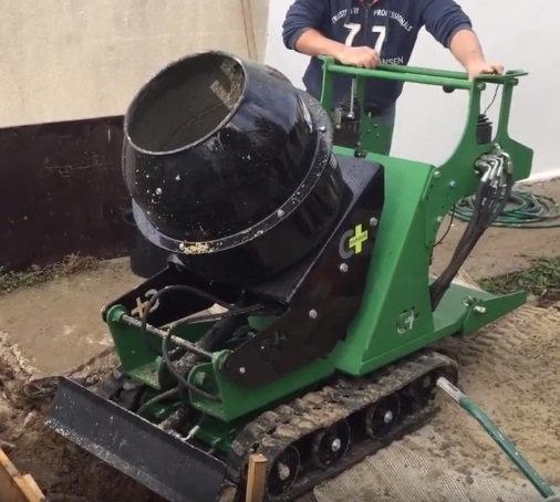 Kettendumper Betonmischer 130 l 6 PS Benzinmotor