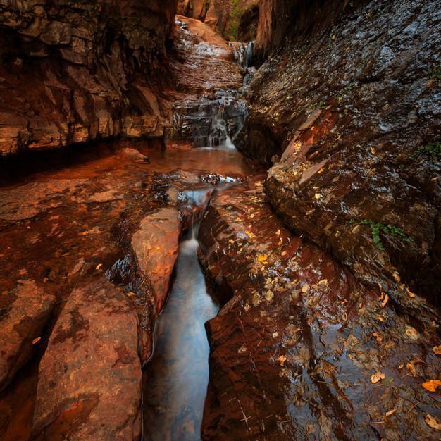 Water Canyon waterfall near Hildale, Uta