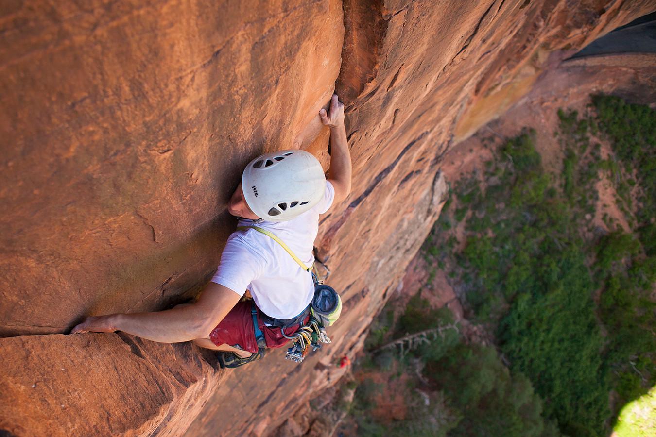 Zach Lee Rock Climbing