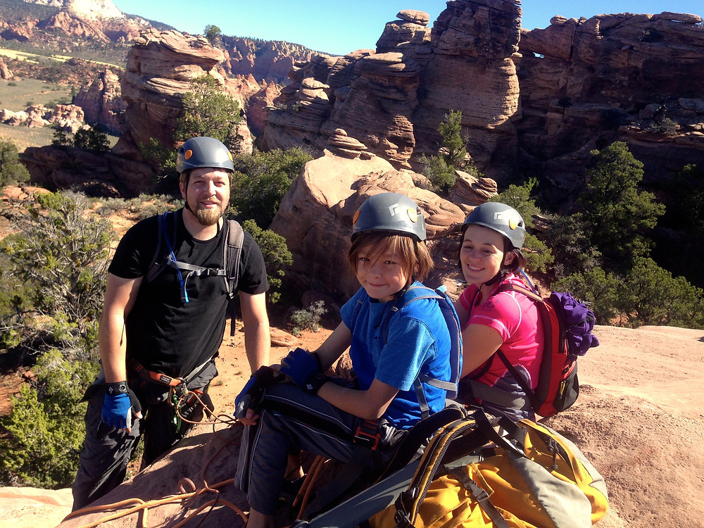 Canyoneering with A Professional Guide Near Zion National Park, UT.