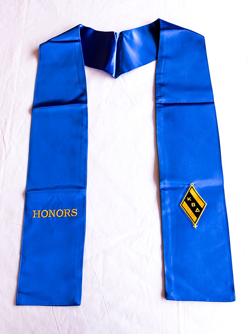 Royal Blue KBD Honor Stole