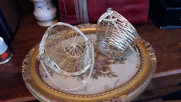 Vintage,Gümüş Kaplama İki Adet Sepet