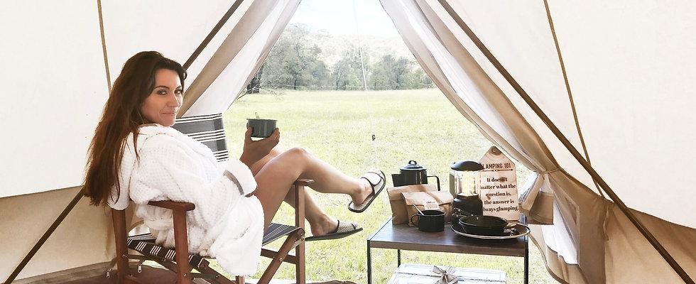 Premium camping tent hire services
