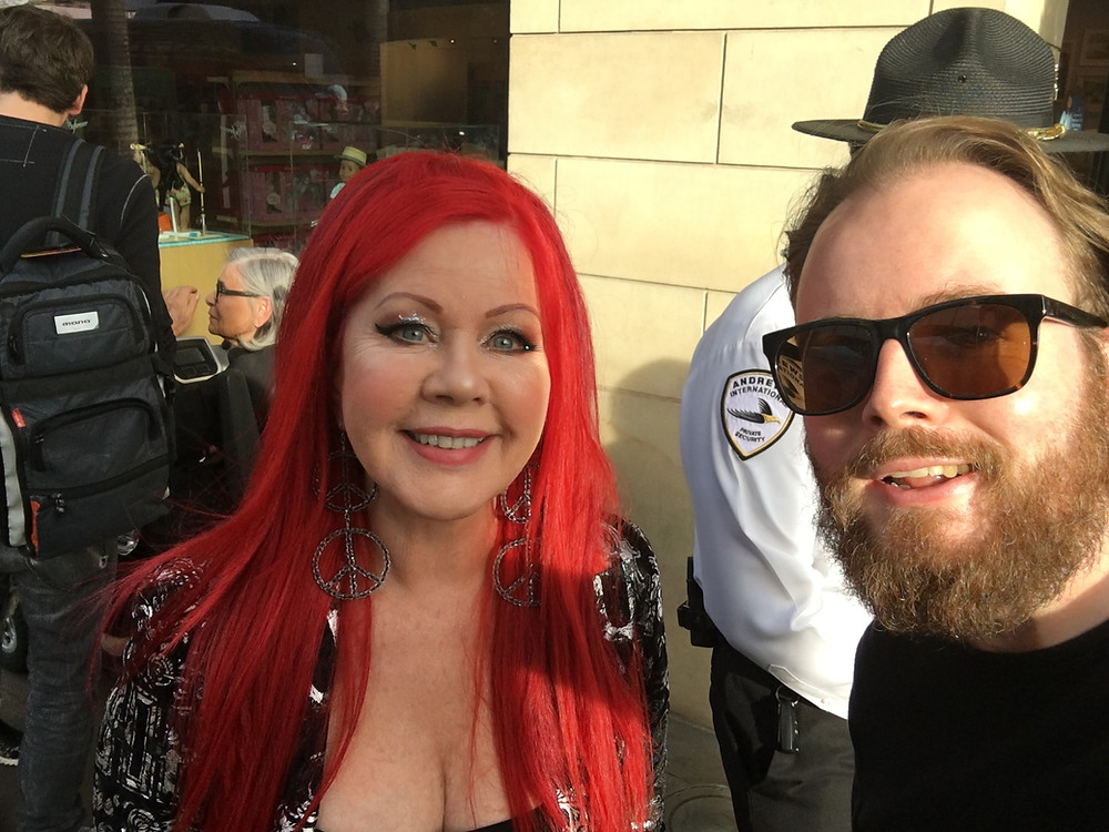 Grabbing a cheeky selfie with Kate Pierson - the highlight of my year so far!