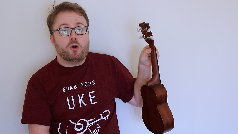 A well placed thumb on the backside of your ukulele will give you extra strength!