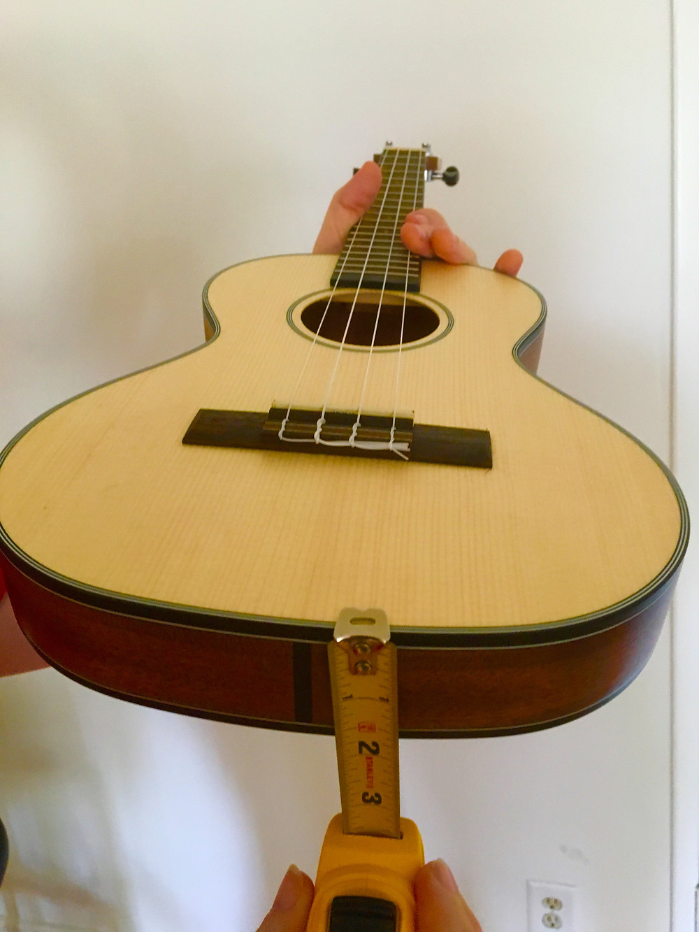 Ultra thin ukulele - only two inches thick!