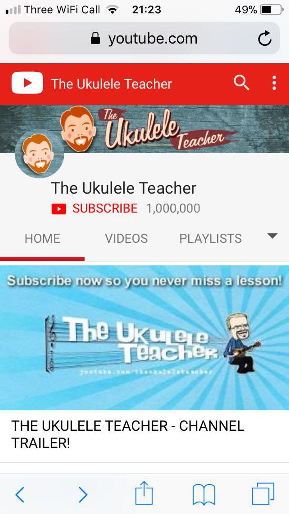 Thanks to my sister for managing to capture the EXACT moment the channel hit 1,000,000 - I was taking a nap at the time!