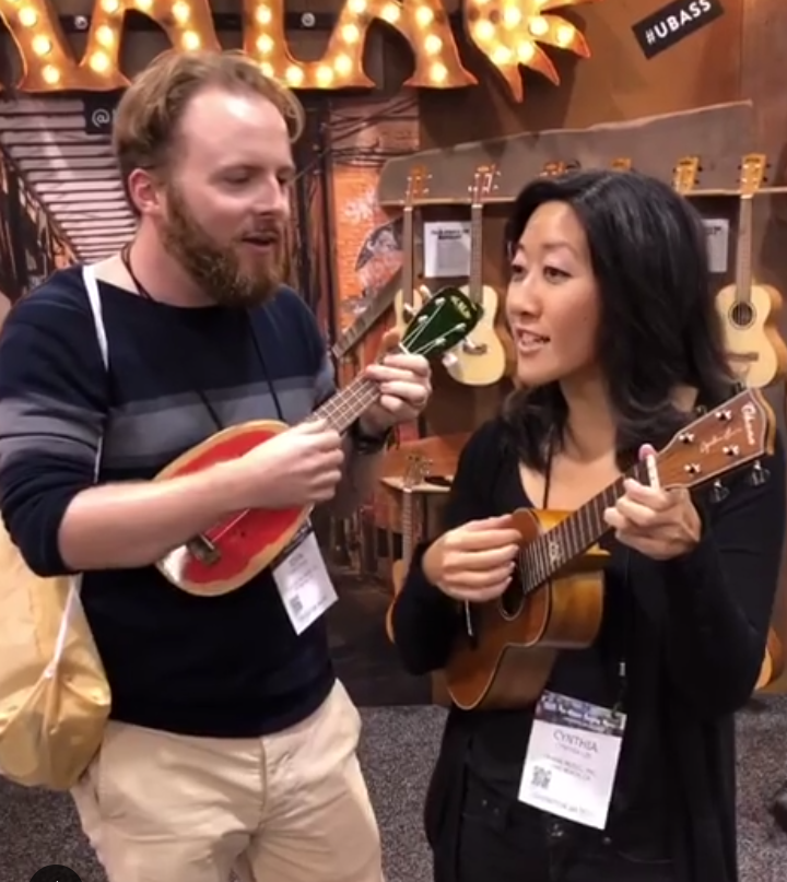 An impromptu jam session with Cynthia Lin at the Kala booth!