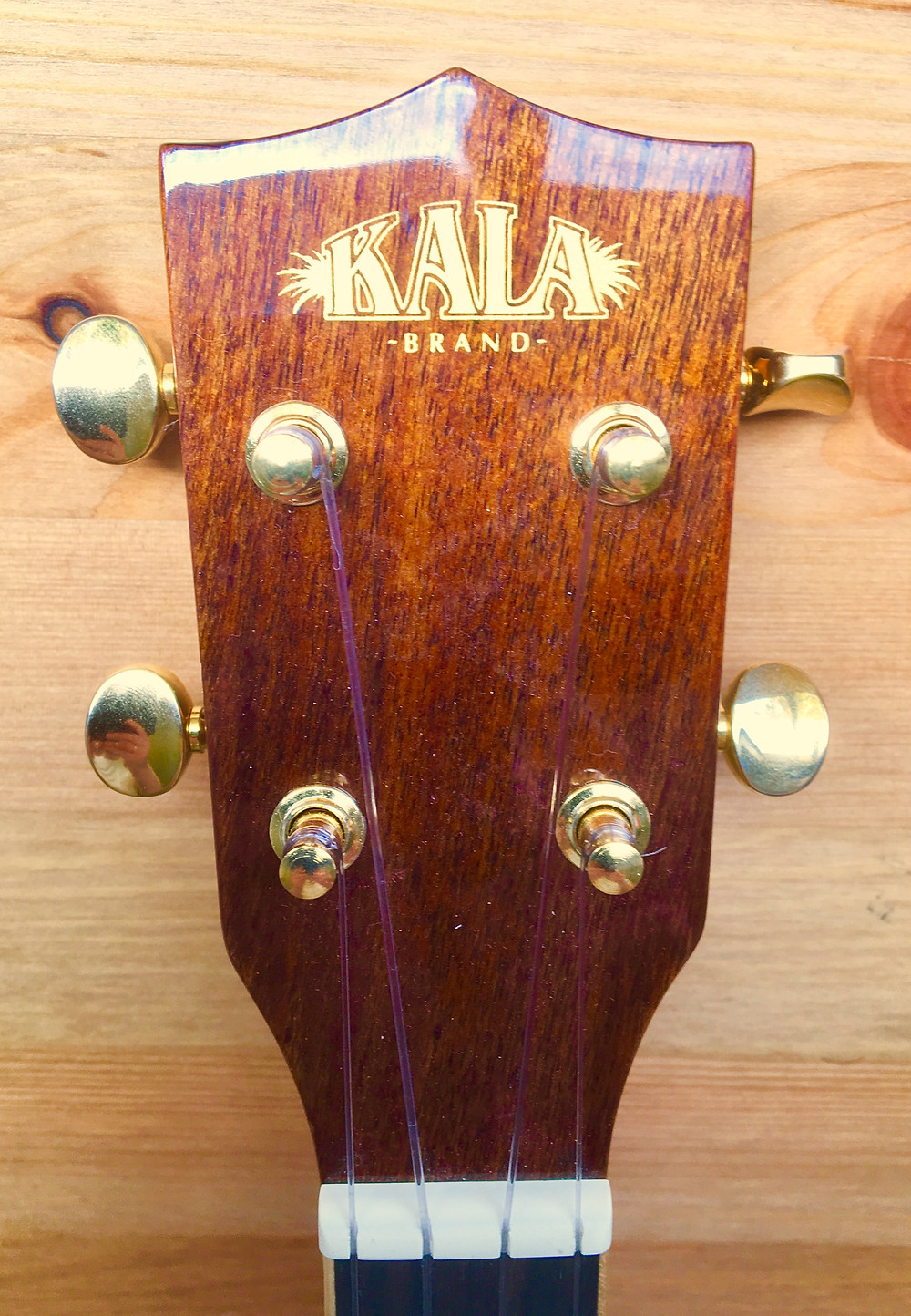 Shiny tuning pegs on my Kala long-necked soprano ukulele!