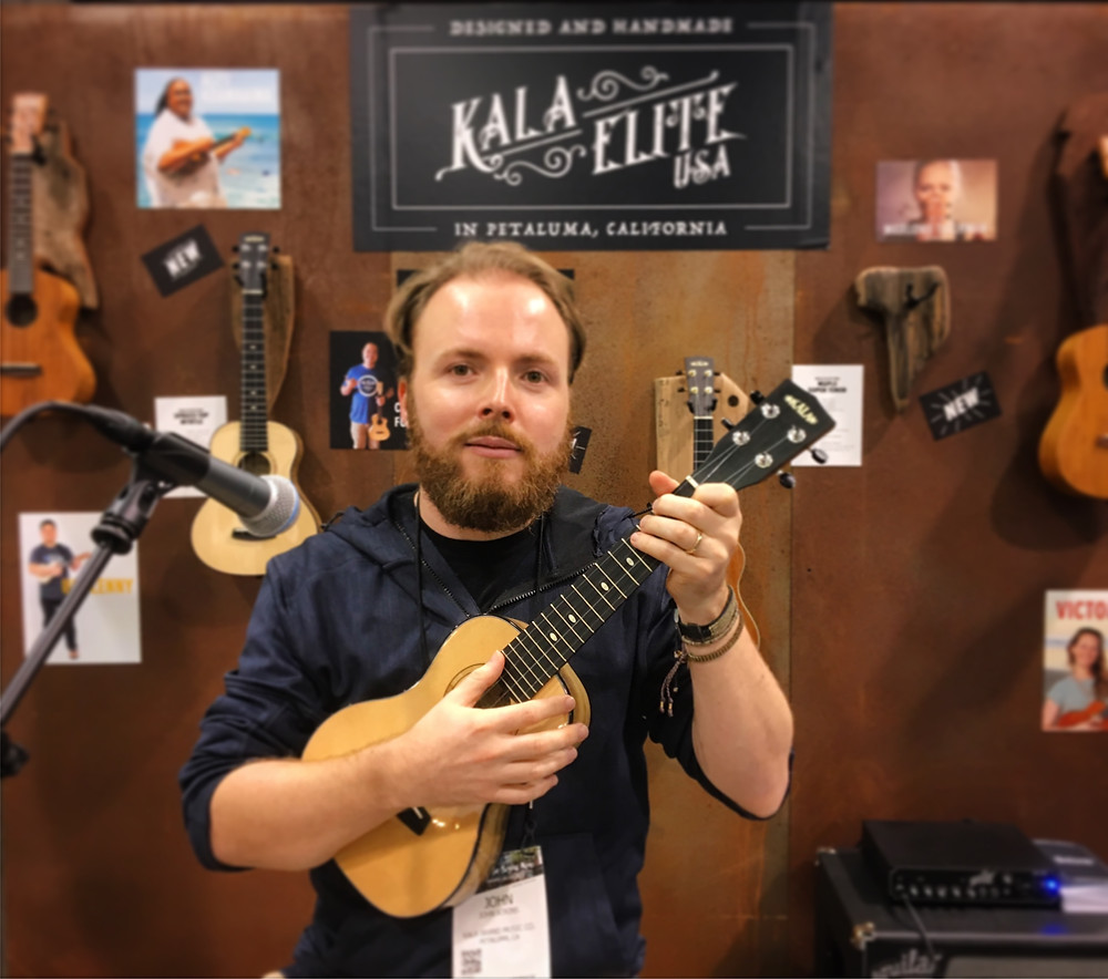 Trying out some very expensive Kala Elite ukuleles