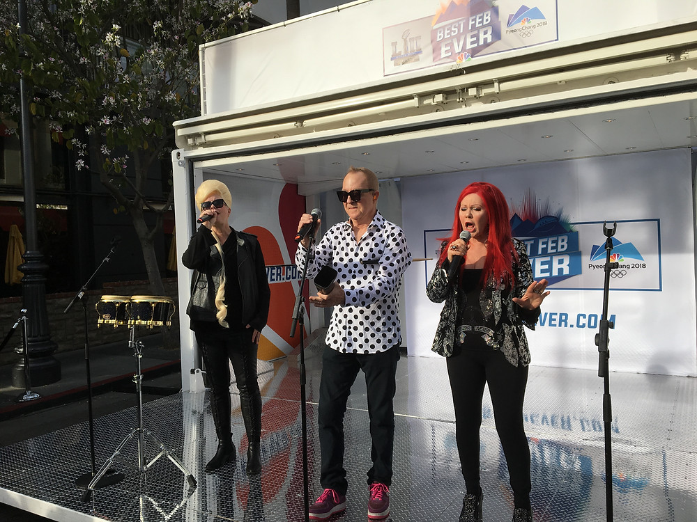 Standing about one metre away from The B-52's!
