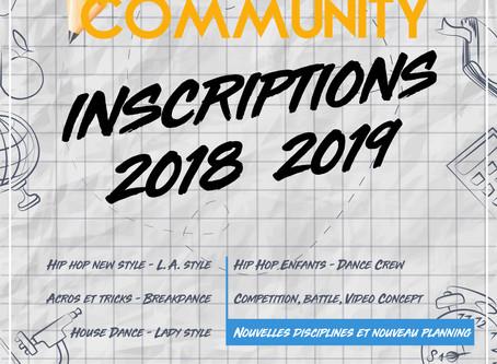 C'EST LA RENTREE..!! INSCRIPTION 2018-2019