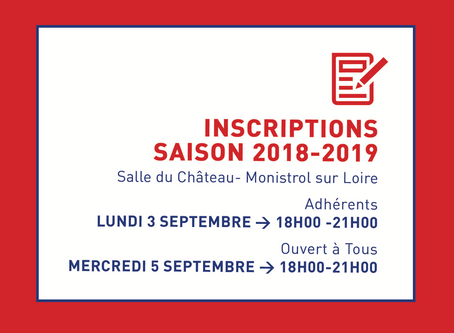 INSCRIPTIONS 2018-2019