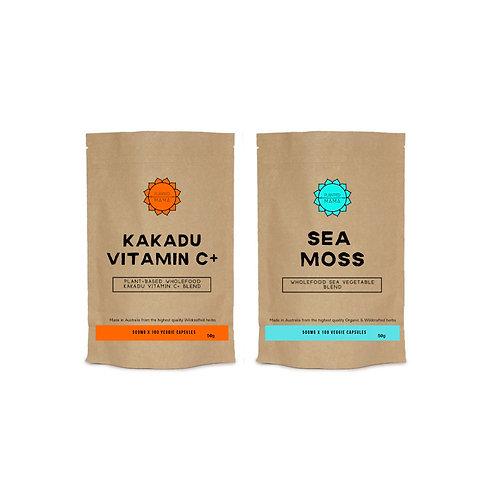 Collagen Bundle: Kakadu Vitamin C + Sea Moss