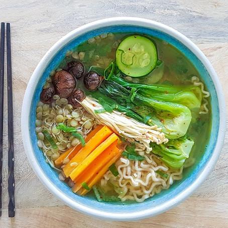 RECIPE: Sprouted Lentil & Mushroom Miso Ramen