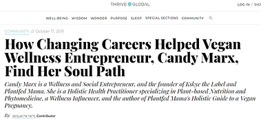 Candy Marx, Plantfed Mama in Thrive Glob