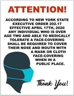 #CV931-attention NYS wear a mask law