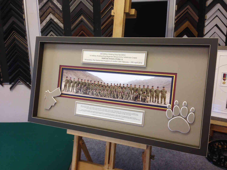 army memorabilia framing