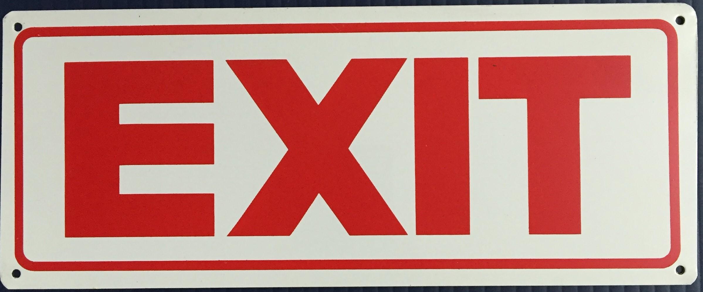 #199  10x4 .020 Alum.-Exit